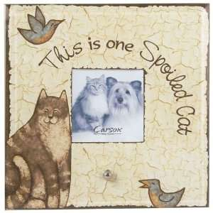 Whiskers & Tails Cat Glass Frame Home & Kitchen