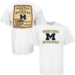 Michigan Wolverines White Recipe T shirt