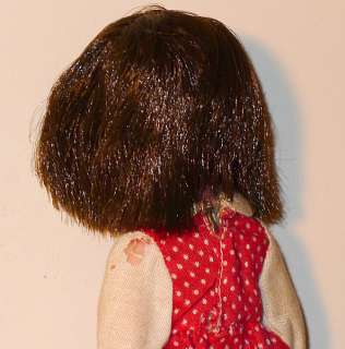 SUSIE SAD EYES 1960s CREEPY KEANE BIG EYED GOTH GIRL DOLL w ALL