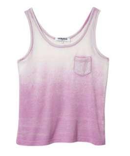 Watermelon (Pink) Teens Purple Acid Wash Dip Dye Vest  249886075