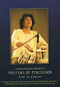 ZAKIR HUSSAIN LIVE CONCERT  DVD  master of percussion