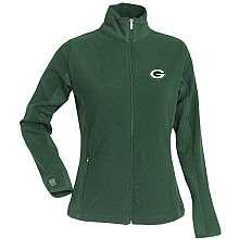 Antigua Green Bay Packers Womens Sleet Full Zip Micro Fleece