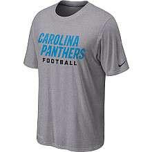 Nike Carolina Panthers Sideline Legend Authentic Font Dri FIT T Shirt