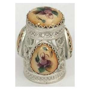 Russian Thimble Filigree/Hand Painted Enamel (1213)