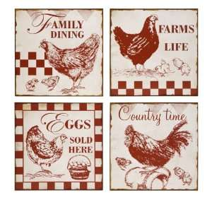 Vintage Cafe Chicken Signs Home & Kitchen