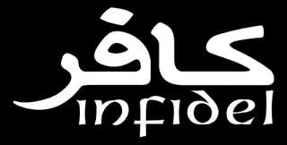Infidel Sticker American Army Car Window Vinyl Decal US