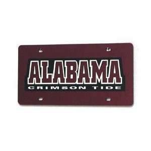 Alabama Crimson Tide Laser Cut Red License Plate