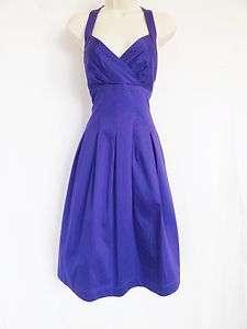 Calvin Klein Purple Casual Sun Dress Halter Stretch Cotton Dress 12