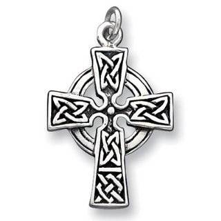 Celtic Irish Cross Pewter Pendant Necklace Jewelry