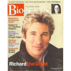 Biography Magazine February 2002   Richard Gere, Andrea