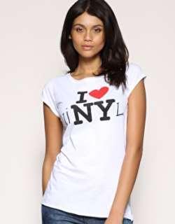 Daisy Lowe  ASOS I love NY (vinyl) Tee at ASOS