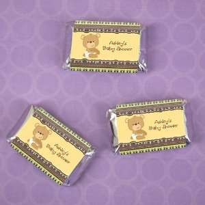 Baby Teddy Bear   20 Mini Candy Bar Wrapper Sticker Labels Baby Shower