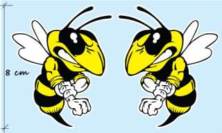 2X VESPA Bee Biene Hornet Wasp Aufkleber Decal STICKER