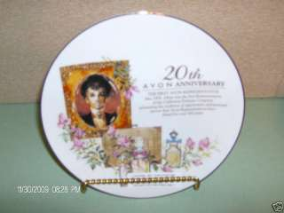 20th Avon Anniversary Plate Mrs Albee Gorgeous VGC