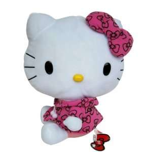 Hello Kitty Plush With Pink Hoodie   Girls Stuffed Toys