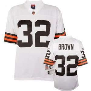 Cleveland Browns Jim Brown White Replica Jersey Sports