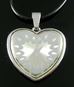 TF724 HEART Stainless Steel Pendant Necklace Punk EMO Gothic