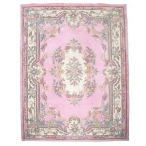 Palace 1127 6 by 9 Hand Tufted Wool Area Rug, Pink