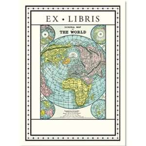World Map Bookplates Arts, Crafts & Sewing
