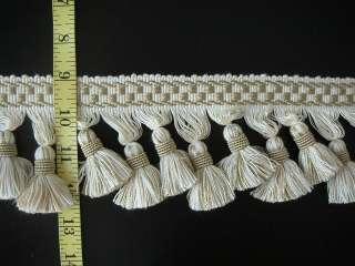 High Quality Tassel Fringe Trim Ivory White and Beige