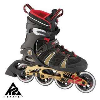 K2 Mach Speed 90 Custom Fit Inliner Inlineskates schwarz rot gold 41,5
