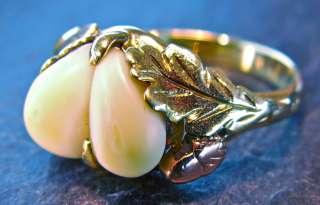 Hirschgrandeln 585 GOLD GRANDEL RING, Grandeln Jagdschmuck, Rotgold