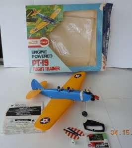 Cox PT 19 Flight Trainer Line Control Gas Powered Airplane