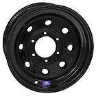 Bart Wheels Super Trucker Black Steel Wheels 16.5x12 8x6.5 BC Set