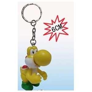 Super Mario Yellow Yoshi Keychain Japanese Import