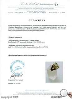 ANTIKRINGE GOLDRINGE 14KT 585 GOLD RING ANTIK RING MIT AQUAMARIN RING