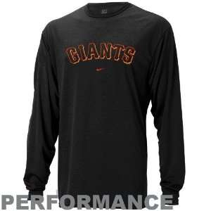 Nike San Francisco Giants Black MLB Performance Long Sleeve Training