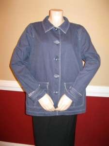 LL Bean Ladies Large Petite Pea Jacket Coat Casual Duck