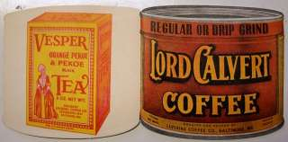 Needle Card Case Vintage Lord Calvert Coffee Can
