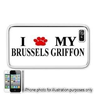 Brussels Griffon Paw Love Dog Apple iPhone 4 4S Case Cover