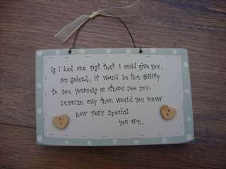 wooden chic plaque. Best Special Friend gift birthday etc.