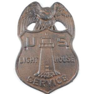 Iron Antique Reproduction Us Light House Service Badge