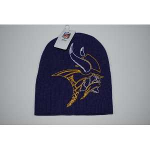 Minnesota Vikings Purple Big Logo Beanie Cap Winter Hat