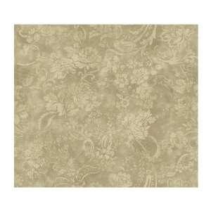 Willow Woods Textured Rose Wallpaper, Khaki/Sage: Home Improvement