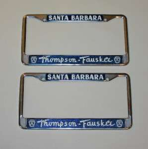 Fauskee FORD California Dealer License Plate Frames 1956   Current