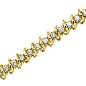 14K Yellow Gold 2 ct. Diamond Tennis Bracelet Katarina Jewelry