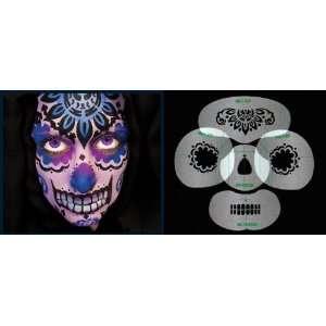 Nixs Collection Sugar Skull #1 Airbrush Makeup Face