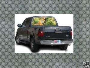 Tiger Rear Window Graphic Tint Ford Chevy Truck