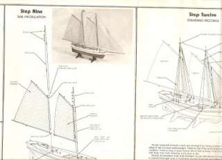 303 Glouchester Schooner Sharpshooter 1909 Balsa Wood Model Sail Ship