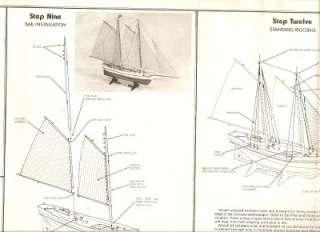 303 Glouchester Schooner Sharpshooter 1909 Balsa Wood Model Sail Ship