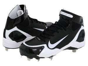 New Mens Nike Air Huarache LWP90 Metal Baseball Cleats / Black/White
