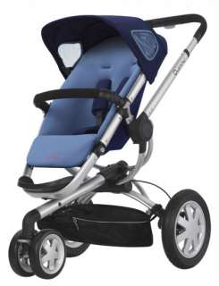 Quinny Buzz 3 Travel System Baby Stroller + Mico Infant Car Seat BLUE