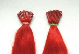 New 20 Human Hair Extensions I Tip 100S 50g Red