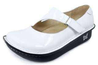 DAYNA White Patent Leather Nursing Professional Shoes DAY 100