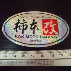 Kakimoto Racing Car Japan Reflect Light Sticker Decals