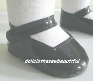 DOLL CLOTHES fits American Girl Molly Blck Patent Shoes
